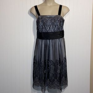Sparkle lace overlay dressbarn cocktail formal